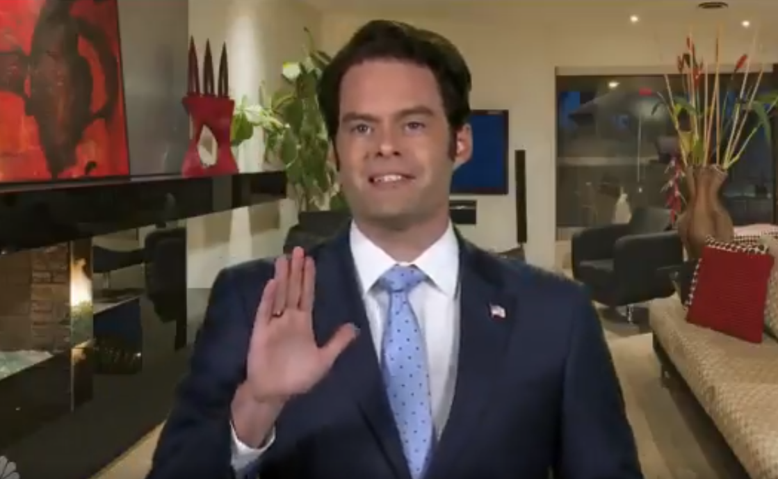 Bill Hader plays Anthony 'The Mooch' Scaramucci on SNL Weekend Update