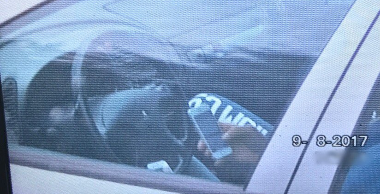 Driver caught using two iPhones