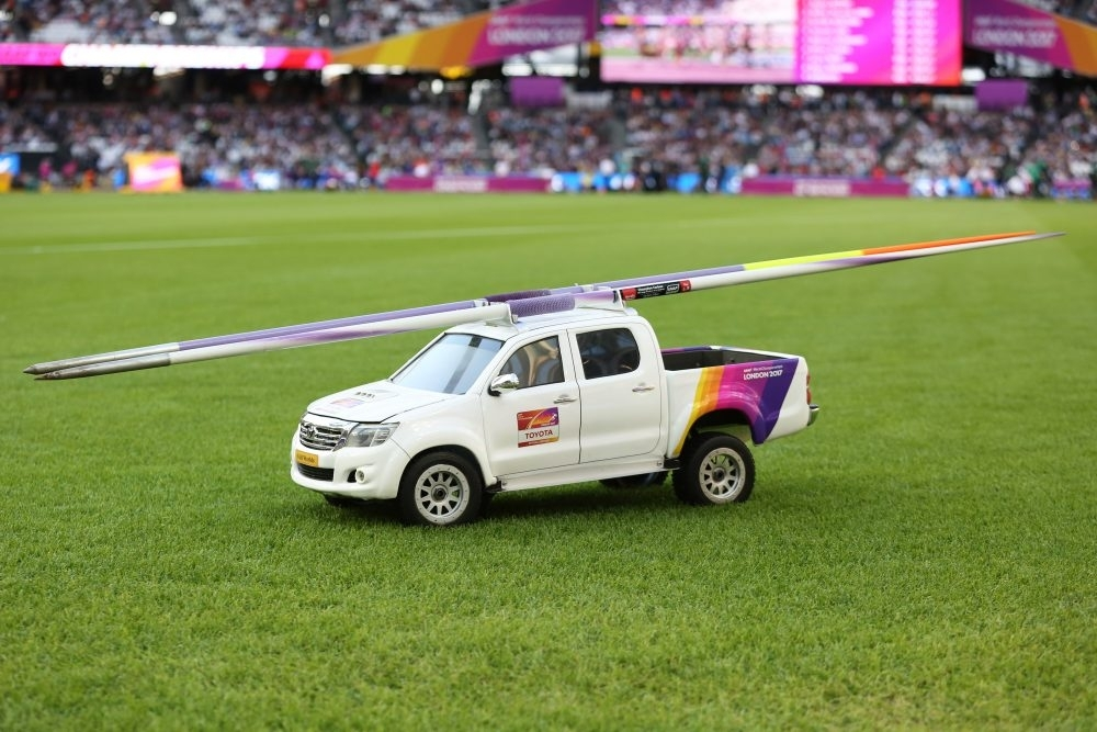 Toyota Hilux at London 0017 Athletics