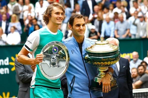 Alexander Zverev and Roger Federer