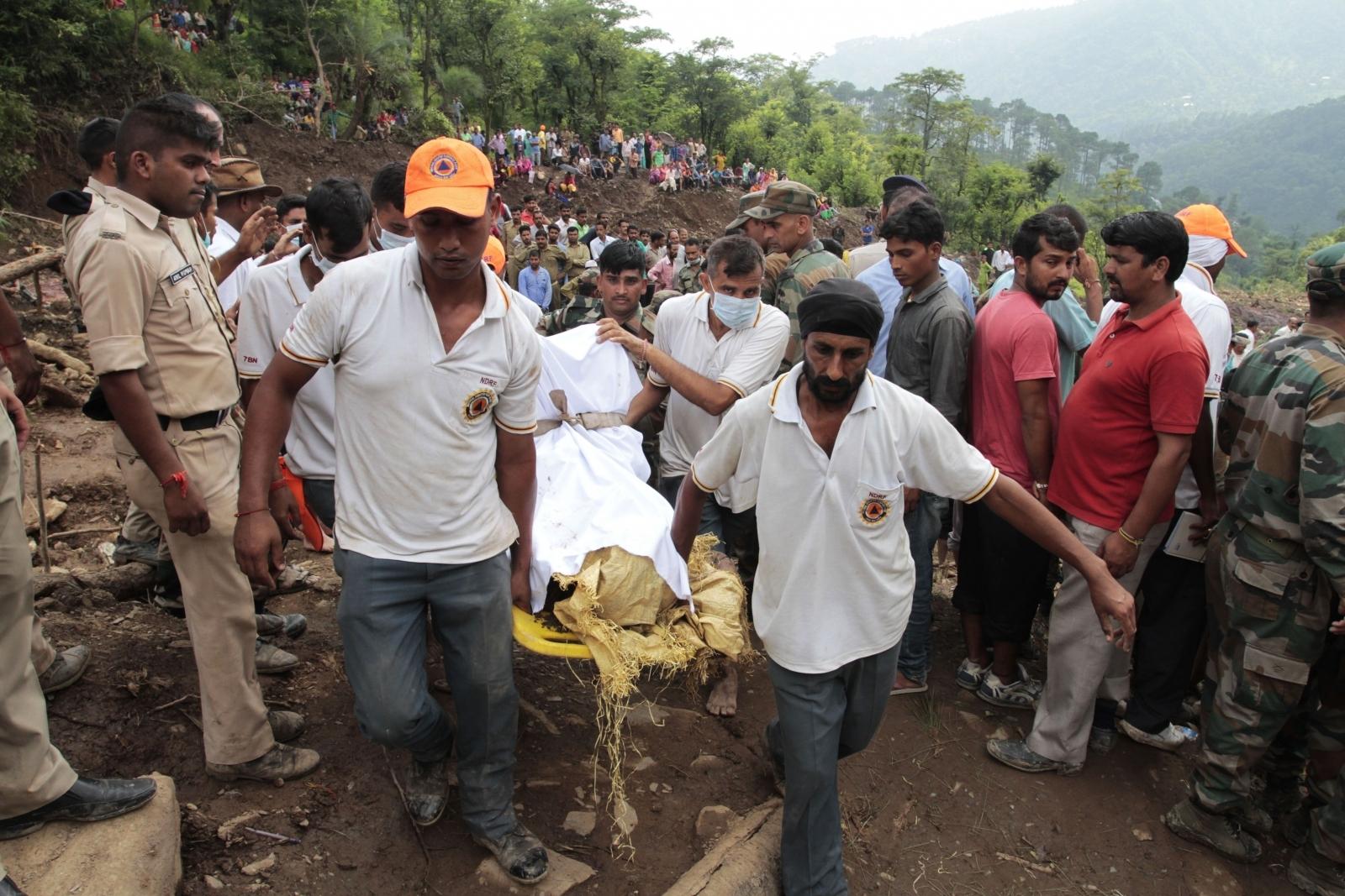 Himachal Pradesh, India landslide