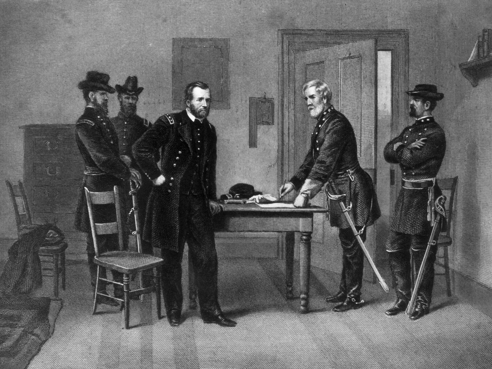 Confederate General Robert E Lee Surrender