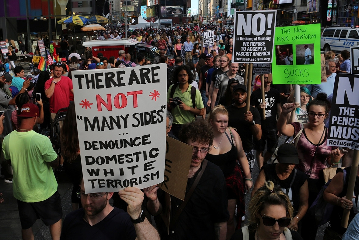 charlottesville white supremacist fascist protests