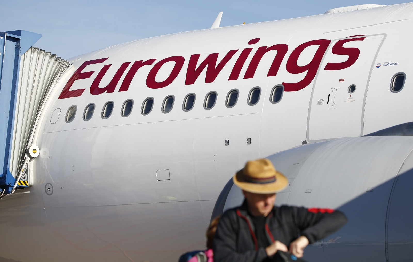 A Eurowings Airbus A330, which is part of the airline's long-haul fleet