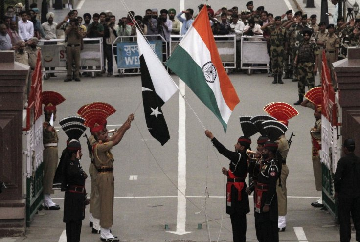India Pakistan Independence Day and flags