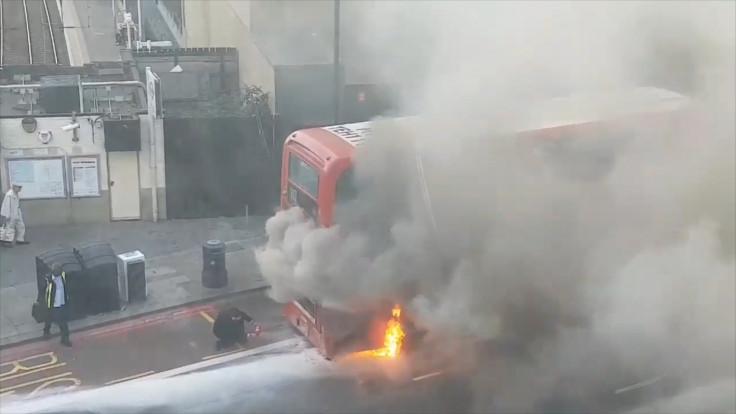 London bus fire