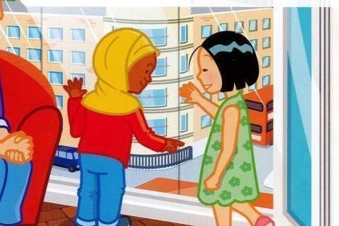 TfL hijab road safety cartoon
