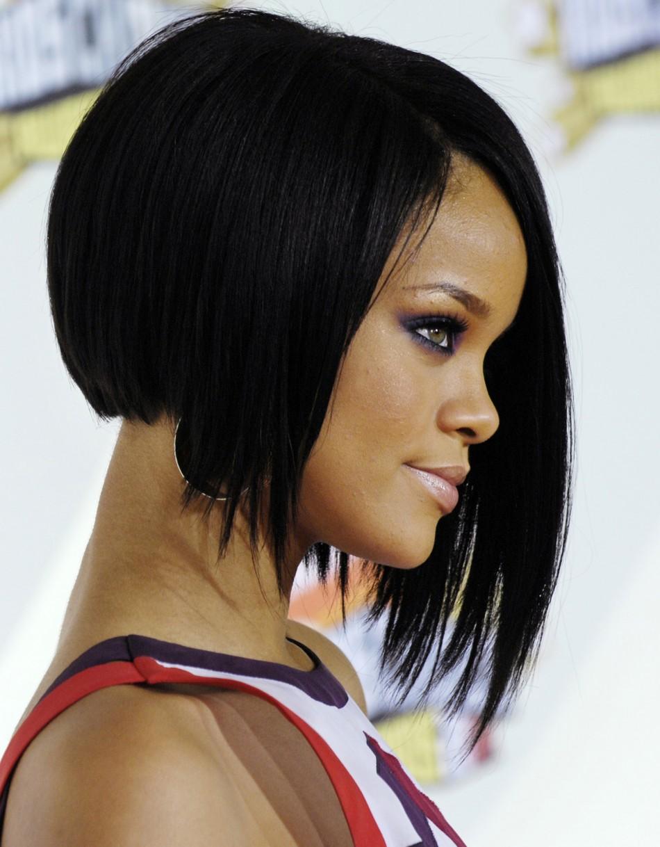 Rihanna - asymmetrical bob