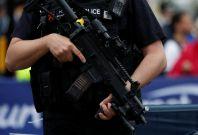 Armed police head cameras