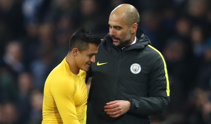 Alexis Sanchez and Pep Guardiola