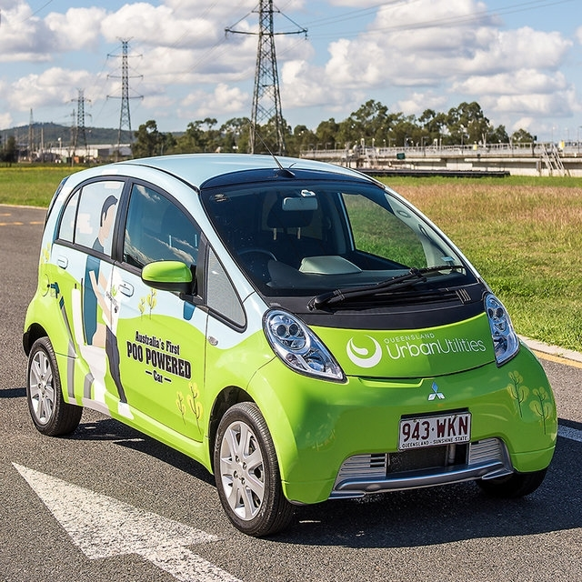 Poo powered car Australia