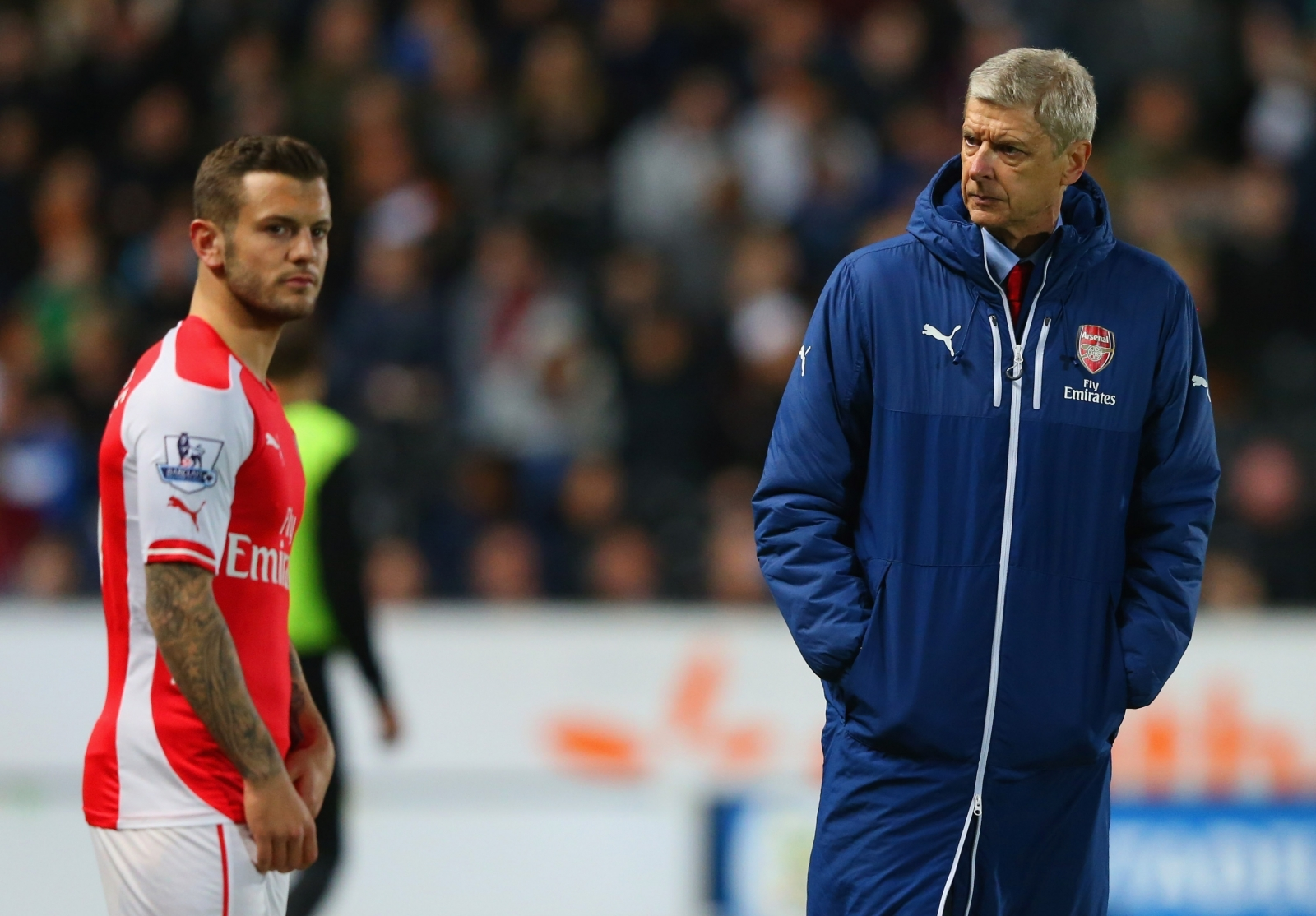 Jack Wilshere and Arsene Wenger