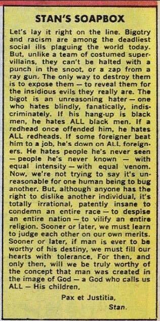 Stan Lee's 1968 column