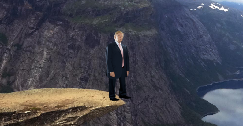 Push Trump Off A Cliff Again! game