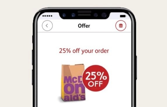 McDonald's email uses iPhone 8 mockup