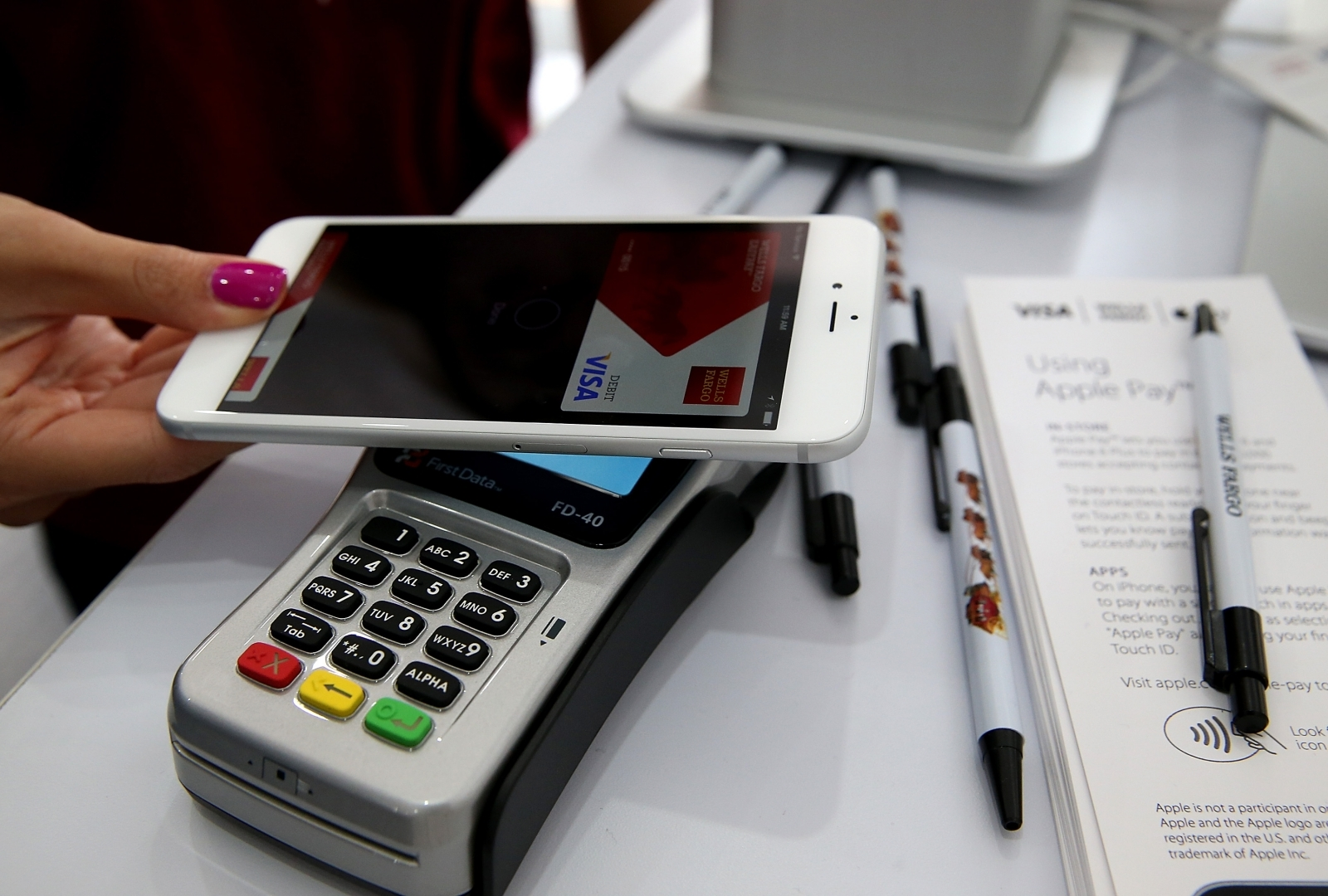 Apple Pay used on an iPhone