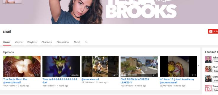 Tessa Brooks YouTube