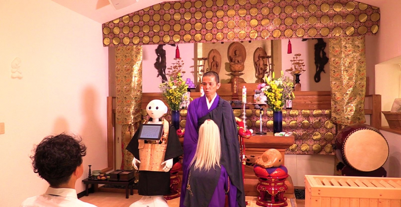 Pepper robot priest Japan