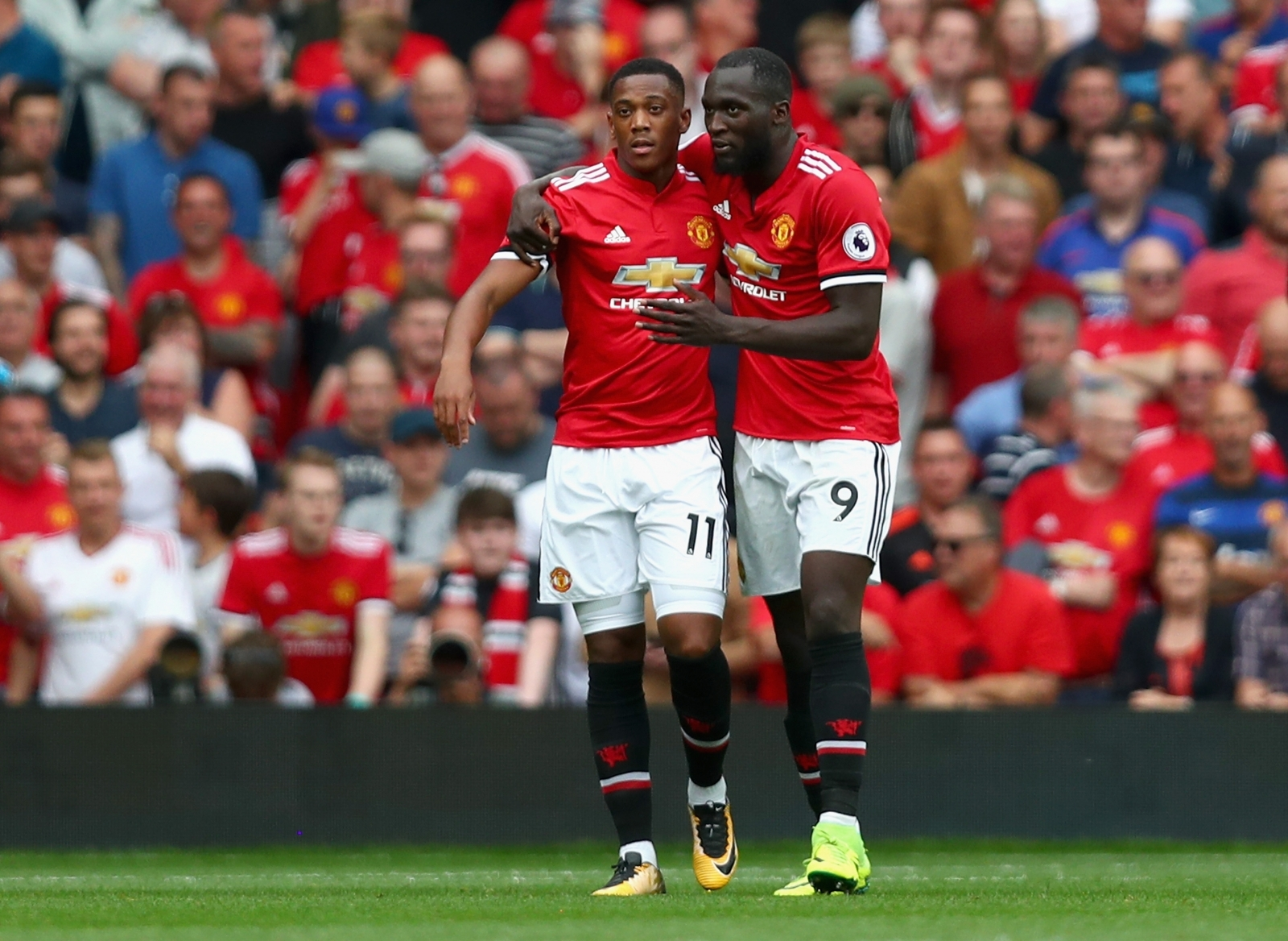 Anthony Martial and Romelu Lukaku