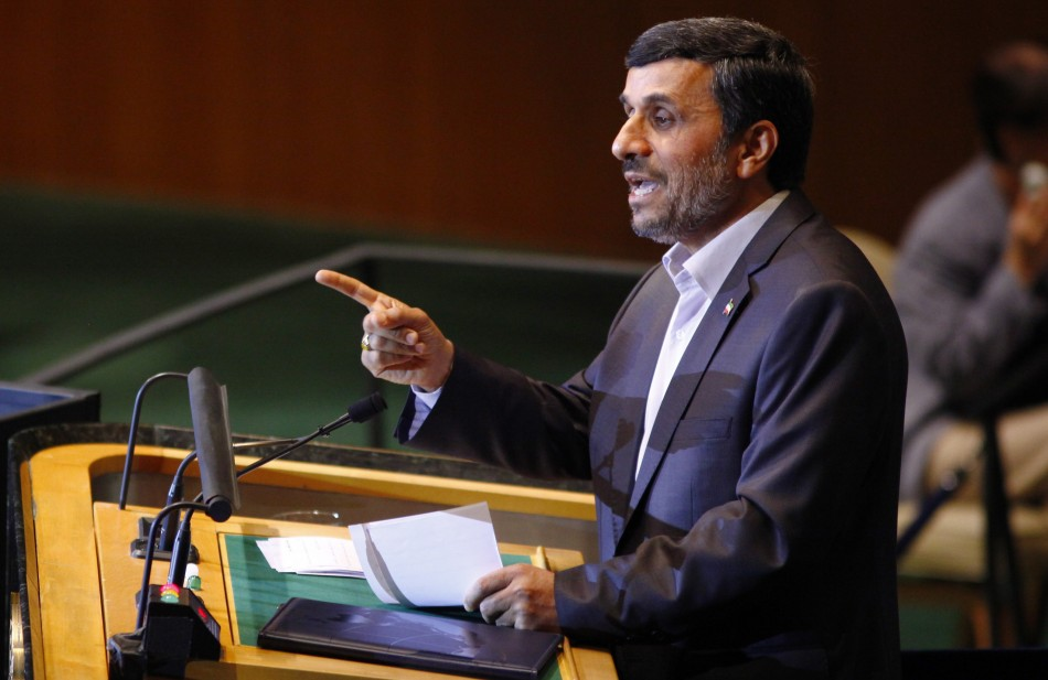 Ahmadinejad addresses the United Nations