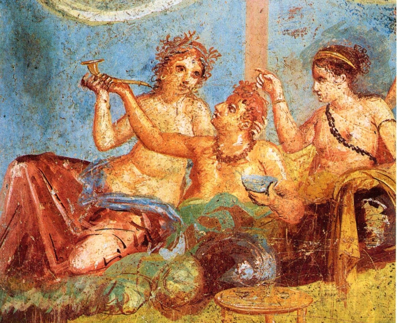 Roman banquet fresco