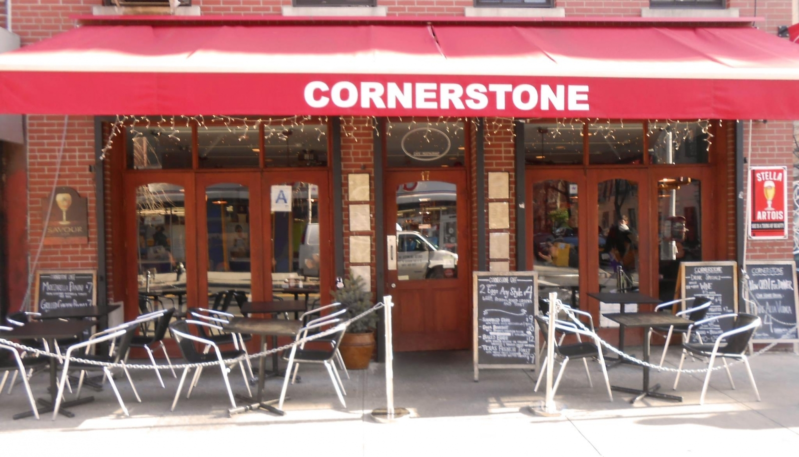 The Cornerstone Cafe on Avenue B in Manhattan's East Village