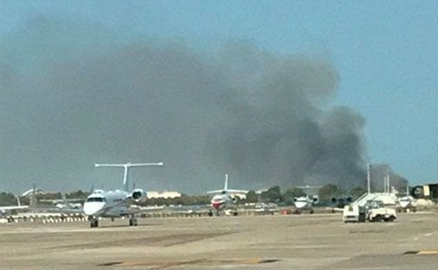 Fire at Barcelona airport