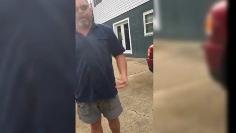 North Carolina man confronted over swastika flag says: 'This is Nazi f**king America'