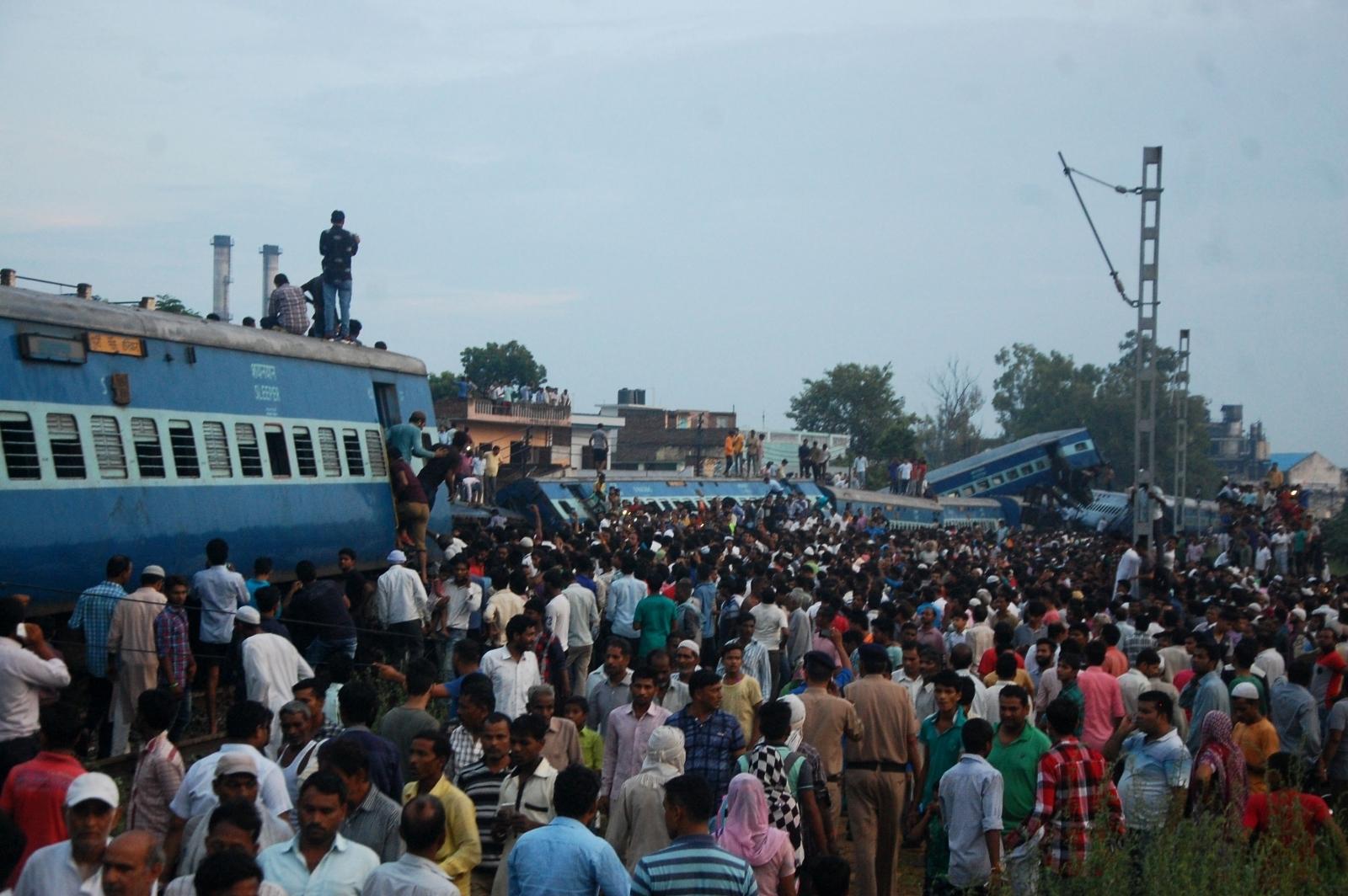 India train derailment Uttar Pradesh