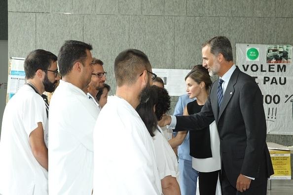 King Felipe and Queen Letizia meet victims
