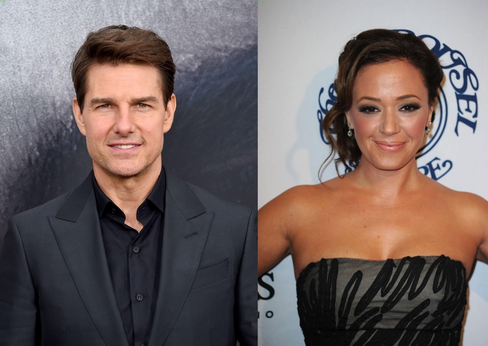 Tom Cruise and Leah Remini