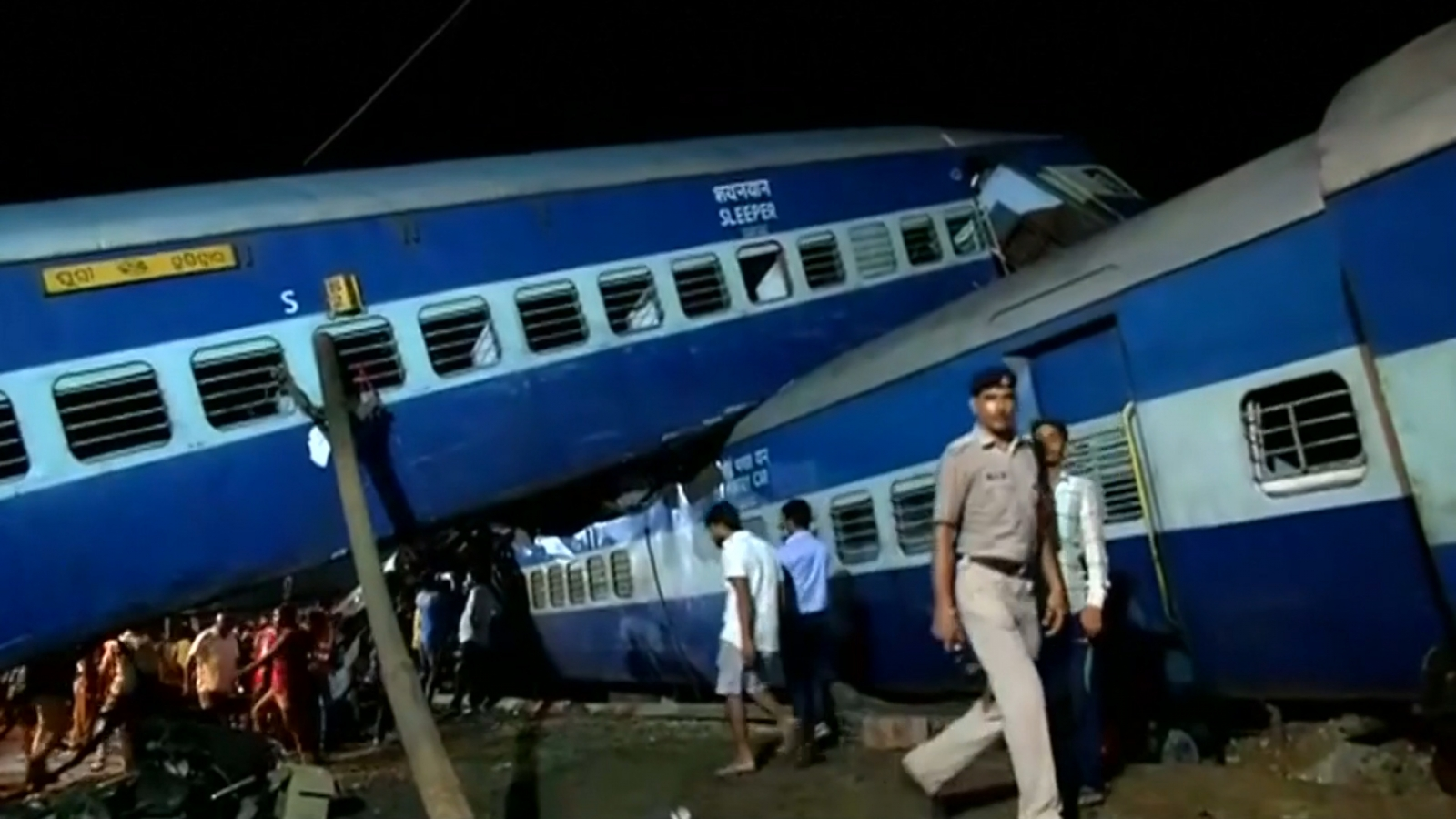 India: At least 23 dead and over 100 injured after huge train derailment