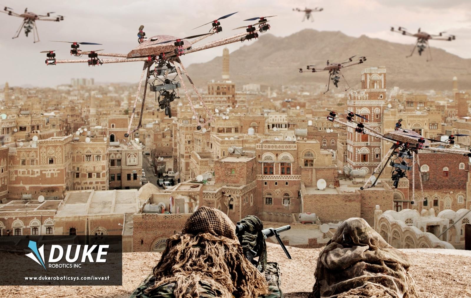 Drones in battle