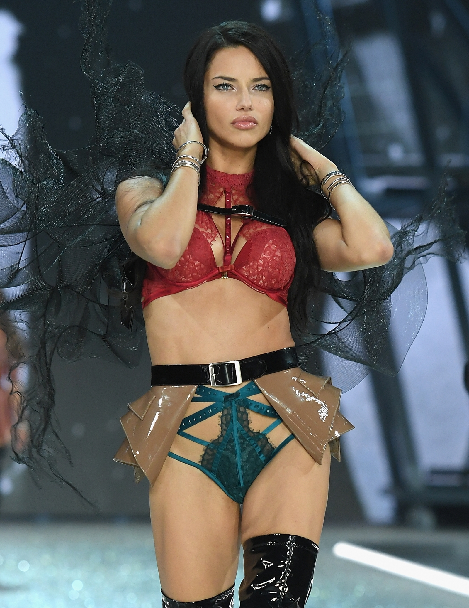 Sexy Cowgirl Outfit Lands Adriana Lima In Trouble On