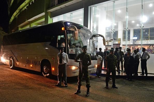 Sri Lanka team bus