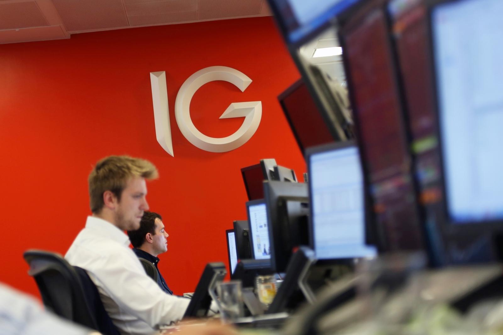 IG Markets trading floor