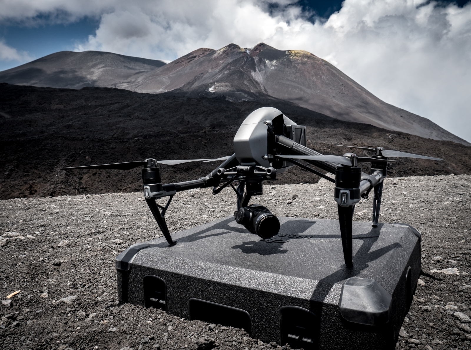 DJI drone used at Mount Etna