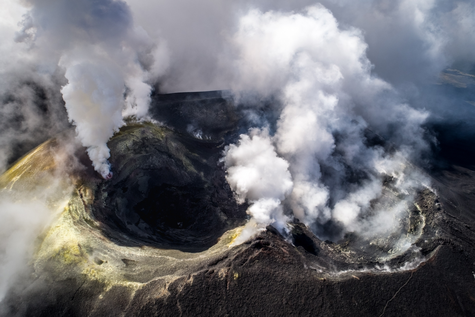 Image of Mount Etna taken by drone