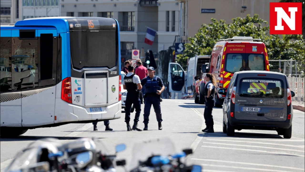 Marseille crash: One dead after van ploughs into two bus stops