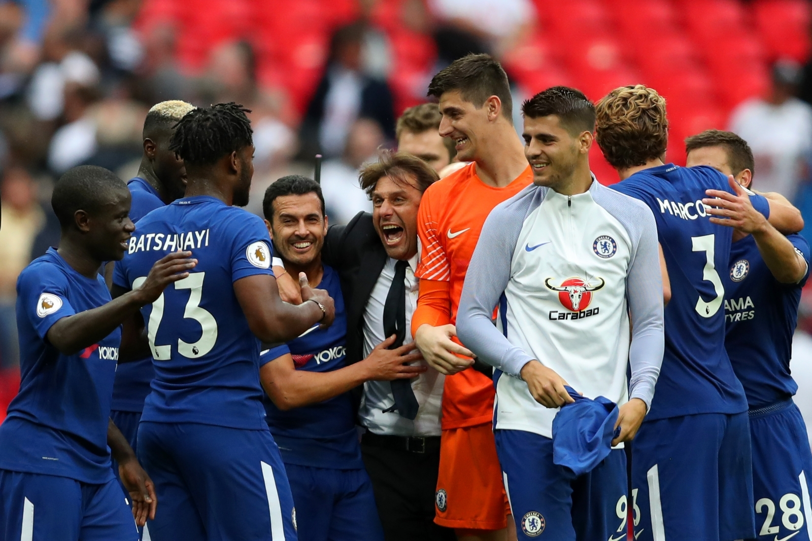 Chelsea players celebrating