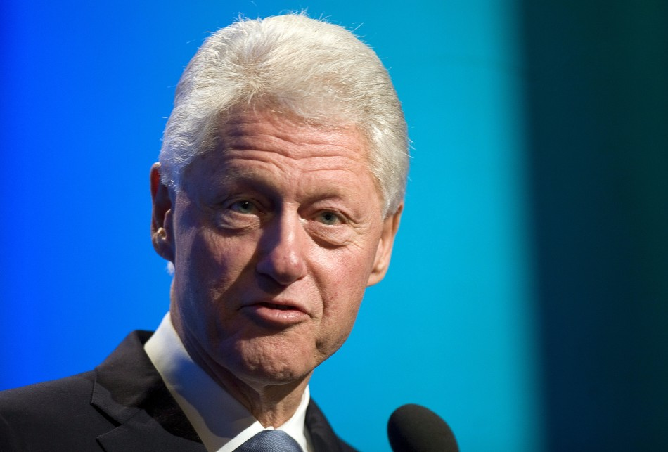 Former U.S. President Bill Clinton speaks before a discussion regarding megacities at the Clinton Global Initiative in New York