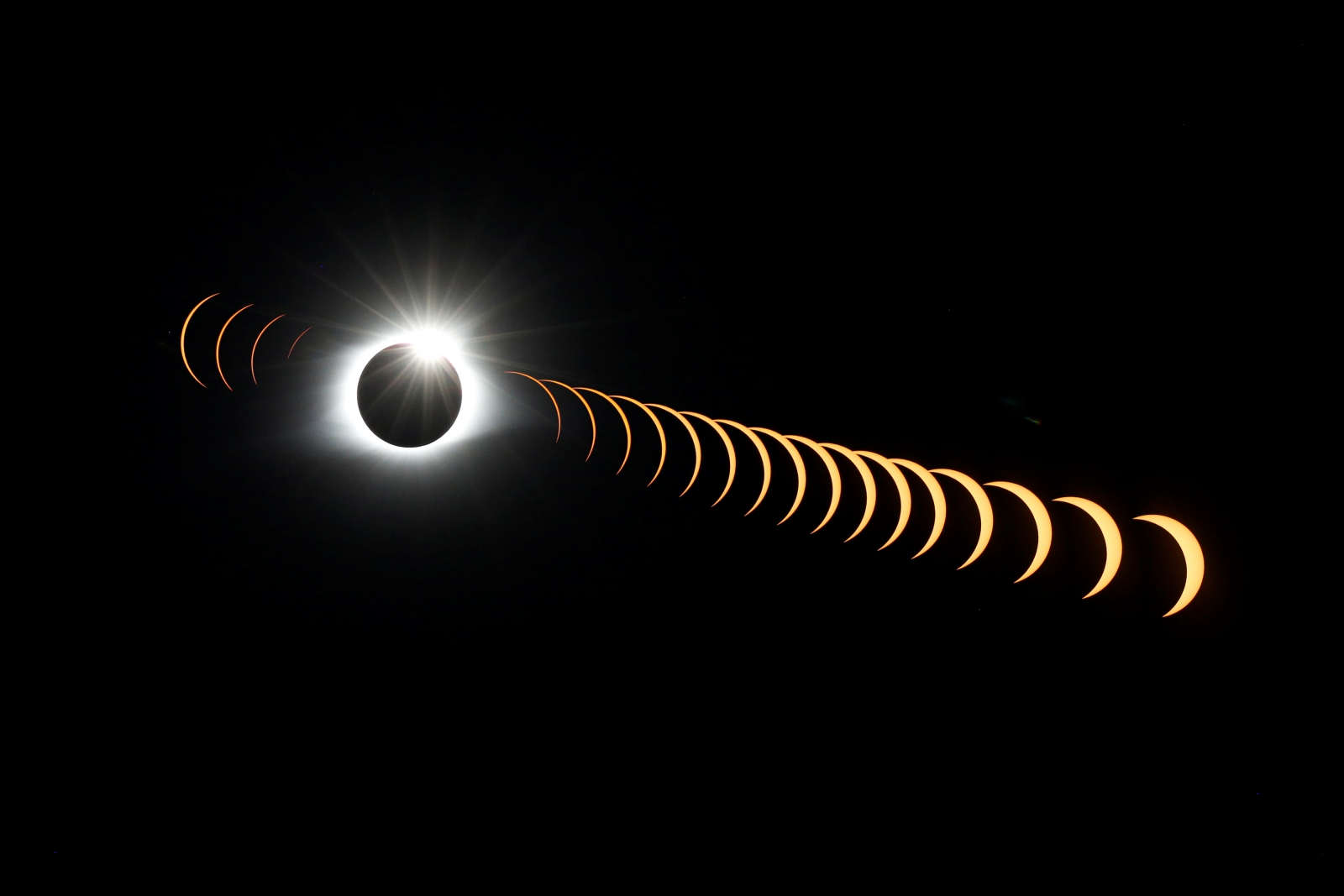 Watch: Moon blots sun out of sky as total solar eclipse mesmerises US