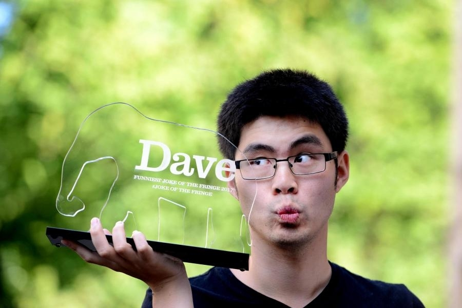 Comedian Ken Cheng won the 10th annual Dave's Funniest Joke Of The Fringe