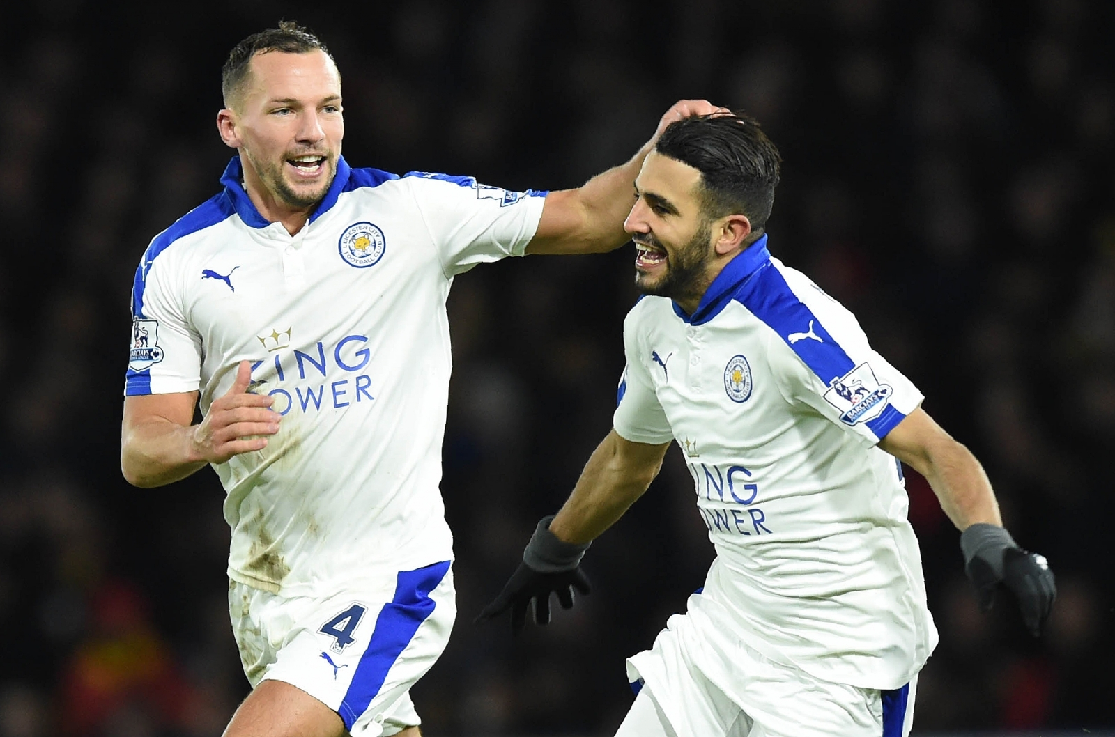 Danny Drinkwater and Riyad Mahrez