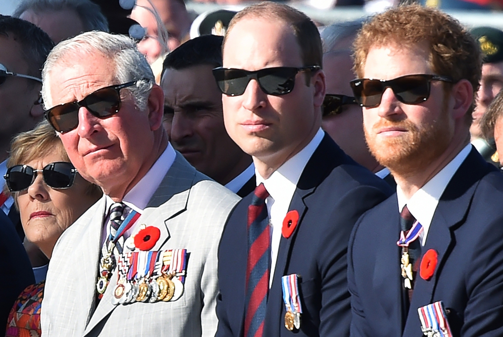 Charles, William and Harry
