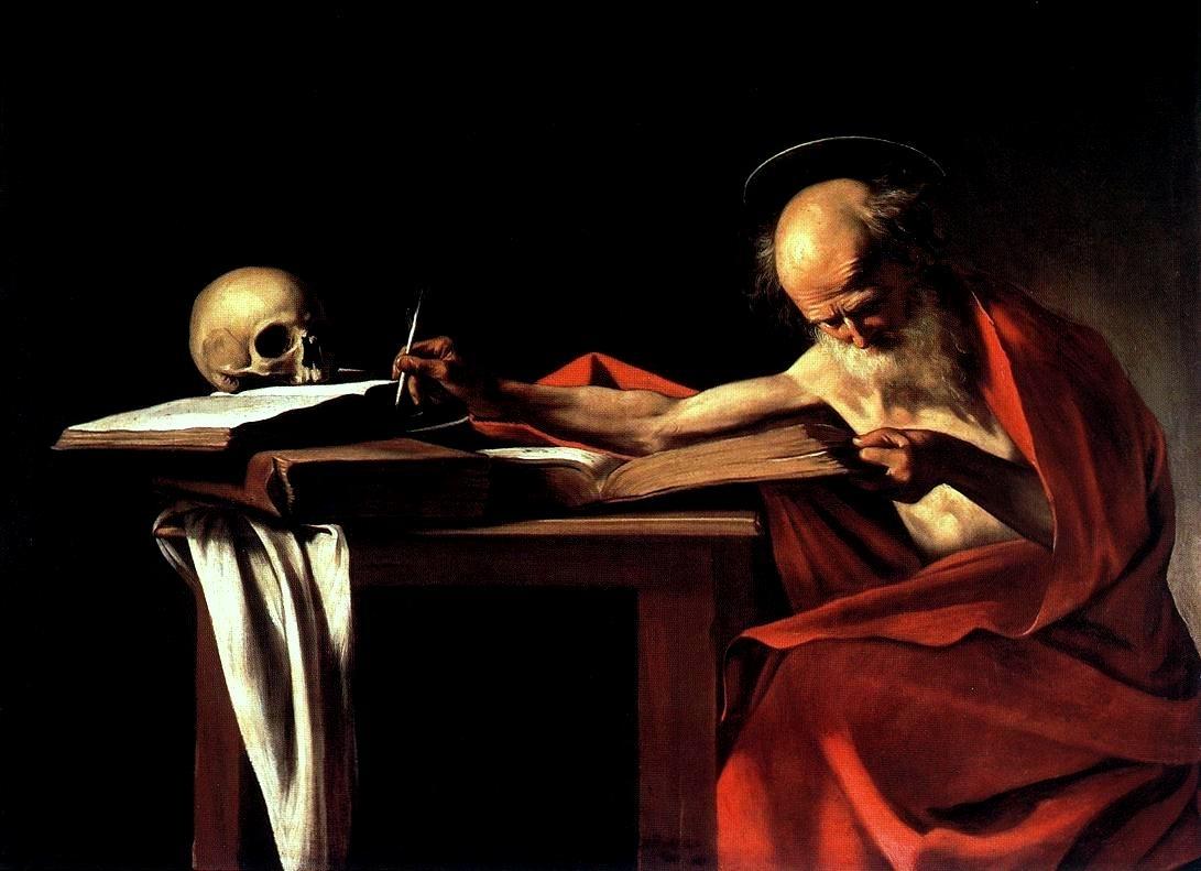 San Gerolamo writing