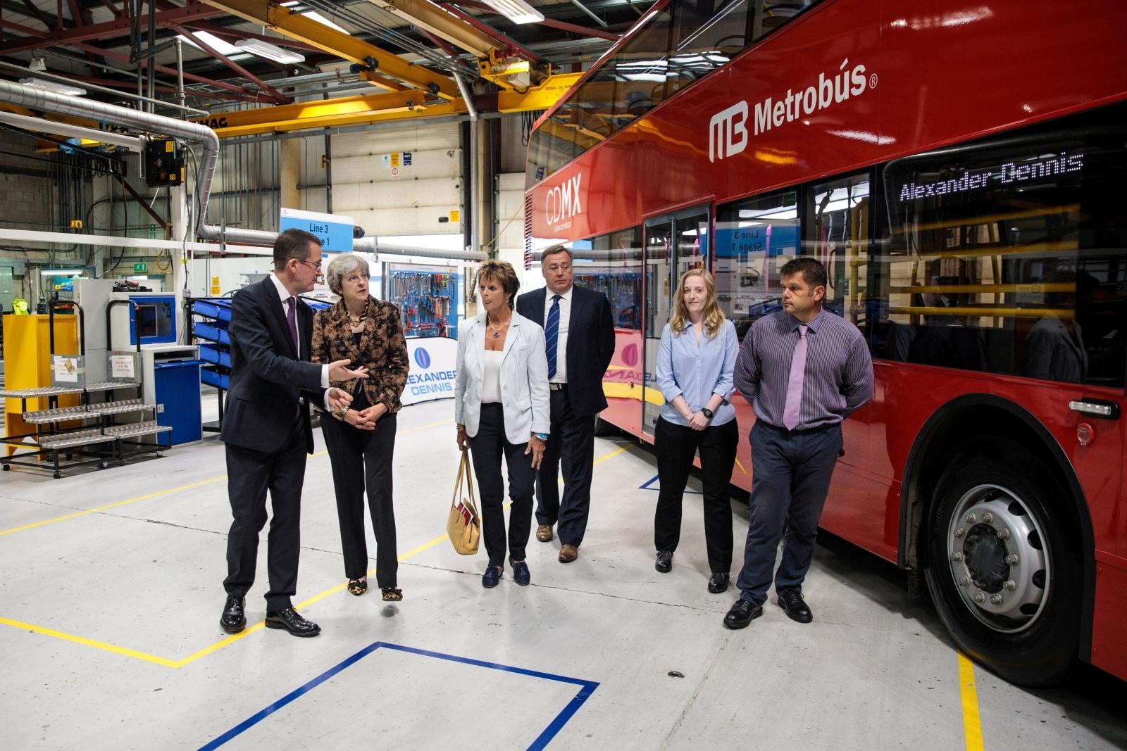 Theresa May London buses