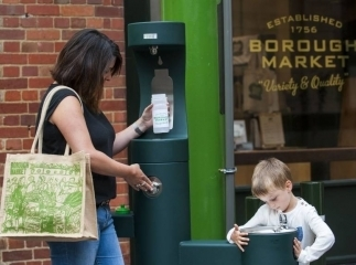 Borough Market has installed three drinking fountains as part of its plan to get rid of all plastic water bottles across the etstate