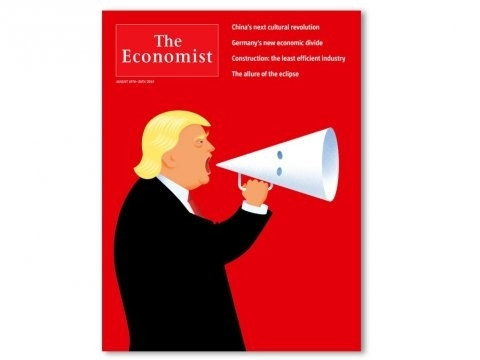The Economist cover on US President DonaldTrump