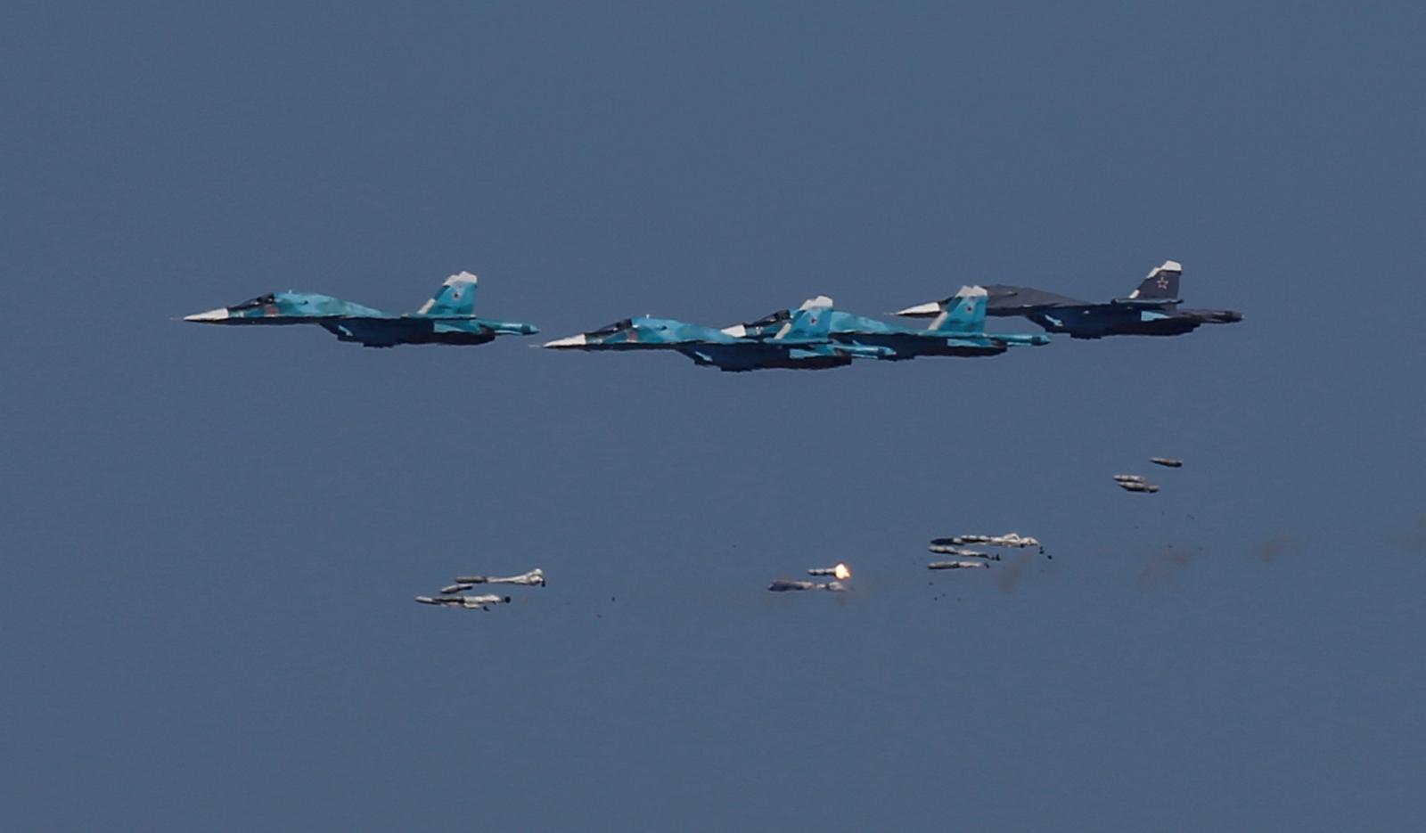 Sukhoi Su-34 bombers Russia